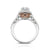 Orchid Engagement Ring in 14K White & Rose Gold