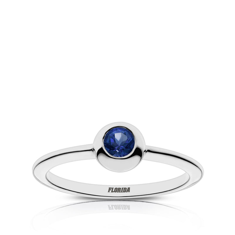 Florida Engraved Sapphire Ring Size 7