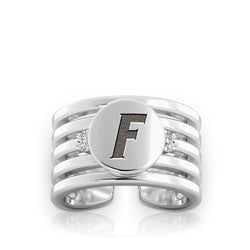 Gators Logo Engraved Multiband Cuff Ring Size 6