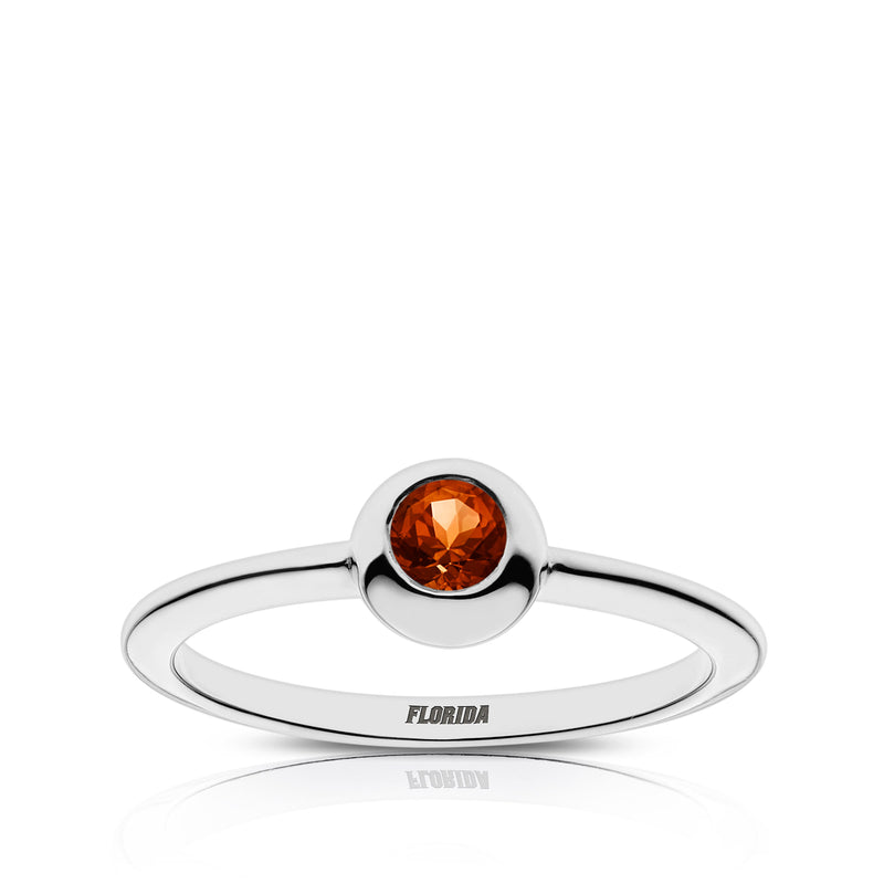 Florida Engraved Dark Citrine Ring Size 6