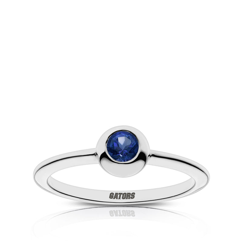 Gators Engraved Sapphire Ring Size 8