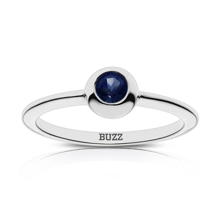 Buzz Engraved Dark Sapphire Ring Size 5