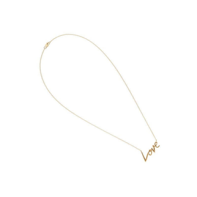 Love Pendant in Yellow Gold