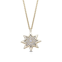 Diamond Starlight Pendant Necklace in 14K Yellow Gold