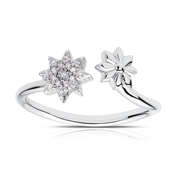 Diamond Starlight Ring in Sterling Silver