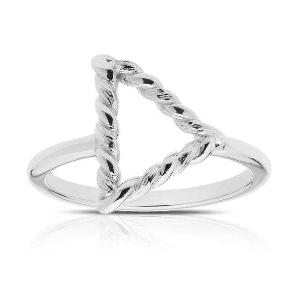 Twisted Geometric Ring in Sterling Silver