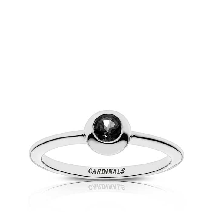 Cardinals Engraved Black Onyx Ring Size 7