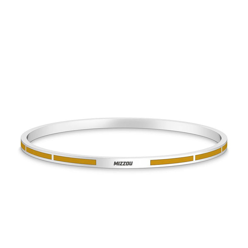 Mizzou Engraved Enamel Bracelet in Yellow Size S