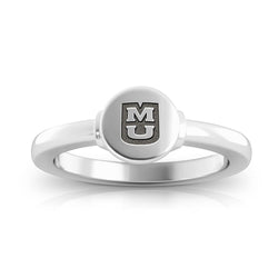 Tigers Logo Engraved Signet Ring Size 6