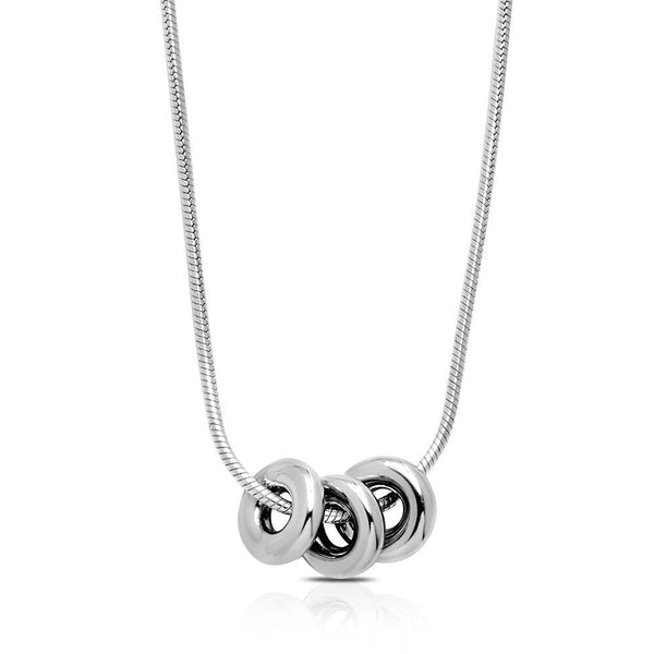 Trilogy Pendant Necklace in Sterling Silver