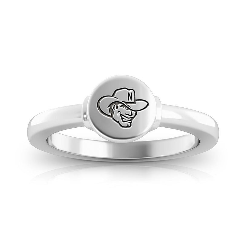 Huskers Logo Engraved Signet Ring Size 9
