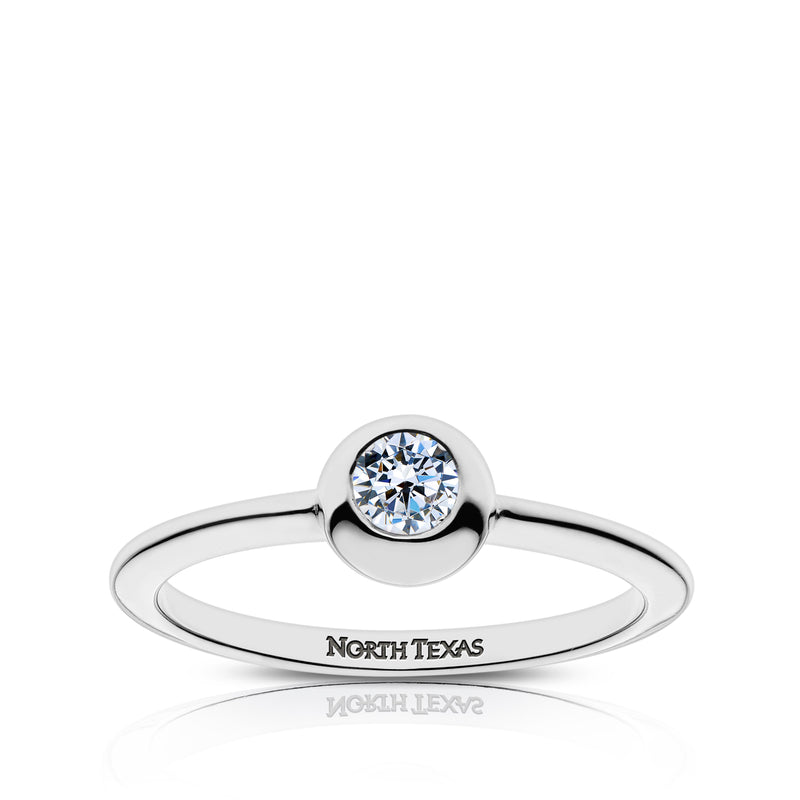 North Texas Engraved Diamond Ring Size 6