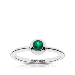 North Texas Engraved Emerald Ring Size 5
