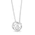 Peony Pendant Necklace in Sterling Silver