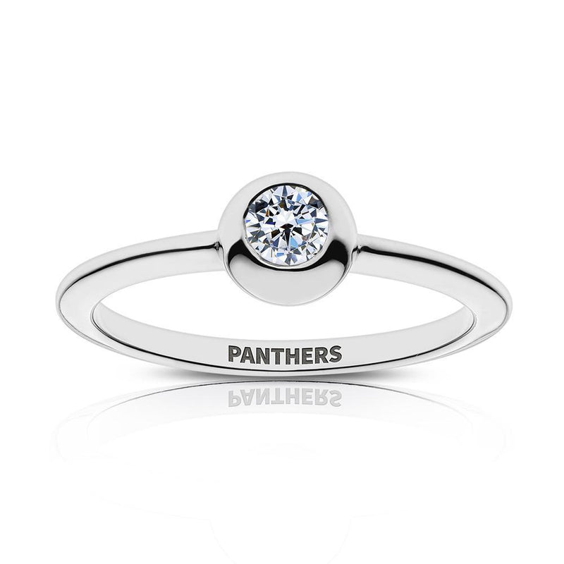 Panthers Engraved Diamond Ring Size 6