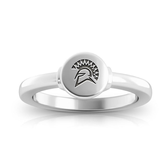 Spartans Logo Engraved Signet Ring Size 7