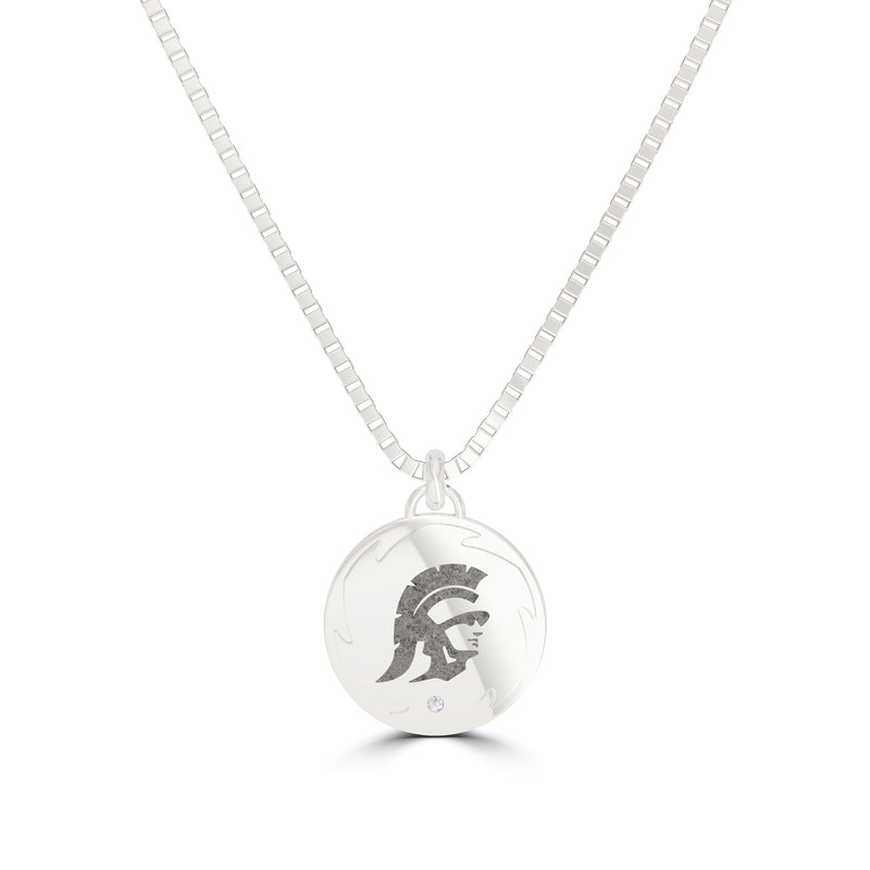Trojan Diamond Men's Pendant in Sterling Silver Size 24