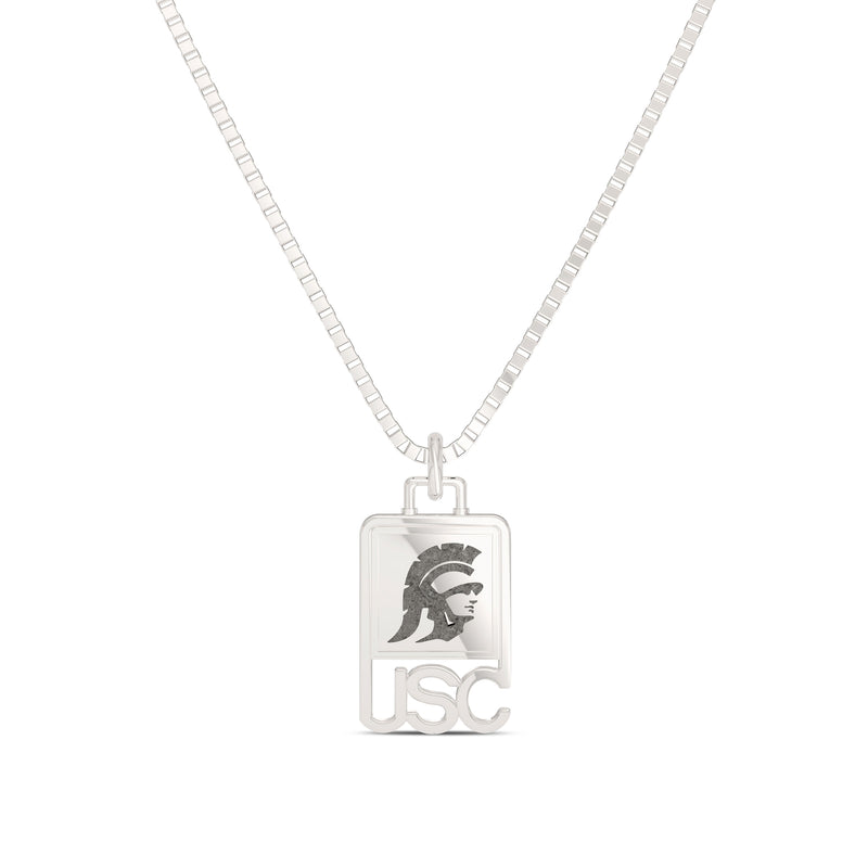 USC & Trojan Men's Pendant in Sterling Silver Size 24