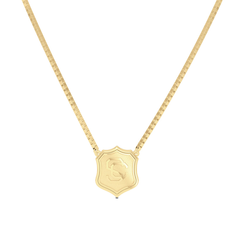 USC Vintage Mark Women's Pendant in 14k Yellow Gold Size 16