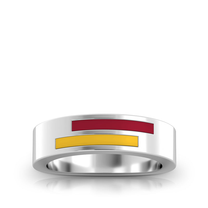 Asymmetric Enamel Ring in Red and Yellow Size 8