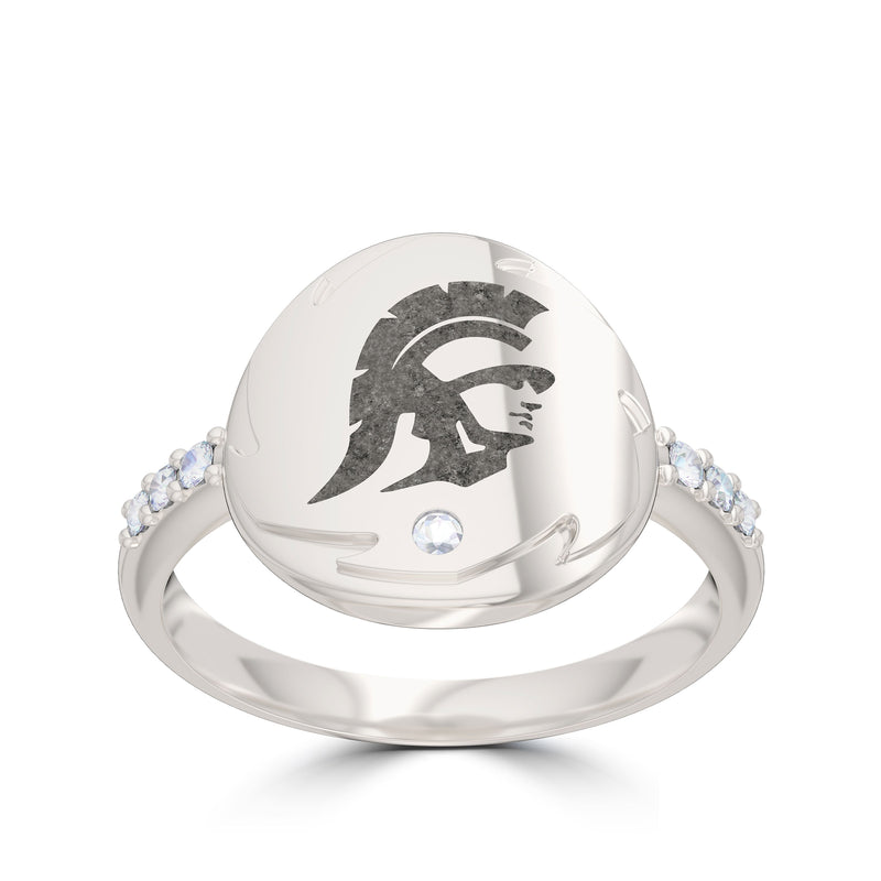 Trojan Diamond Women's Ring in Sterling Silver Size 5