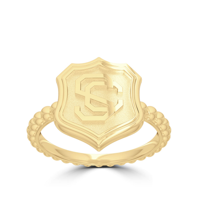 USC Vintage Mark Women's Ring in 14k Yellow Gold Size 7