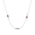 UChicago Engraved Triple Station Necklace in Maroon and White Size 20