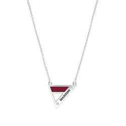 Maroons Engraved Diamond Geometric Necklace in Maroon and White Size 20