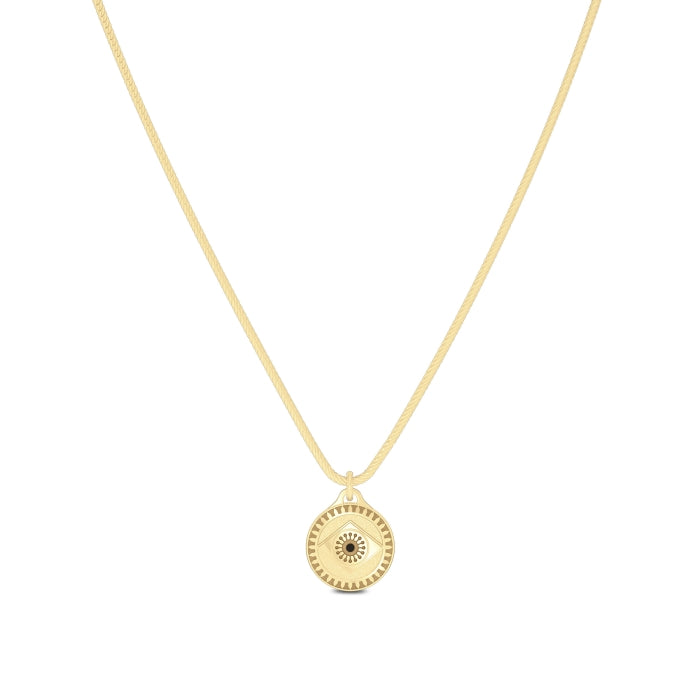 """UFC Cris """"Cyborg"""" Justino Pendant in 14K Yellow Gold Size 24"""