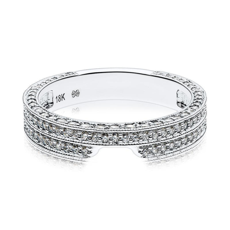 Jacqueline Diamond Wedding Band