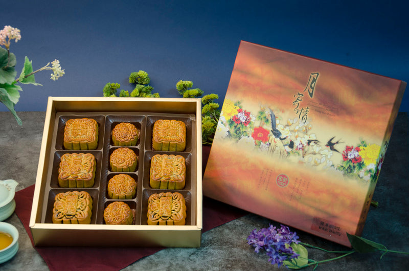 Assorted Moon Cake Gift Box (6 Medium & 4 Small Moon Cakes)