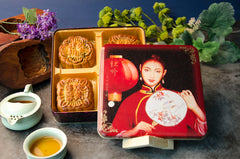 Assorted Large Moon Cakes (4) - Regular Tin Gift Box