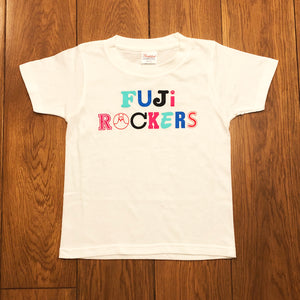 FUJIROCKERS LOGO  KIDS T SHIRTS (WHITE)