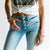 Havana High Rise Distressed Skinny