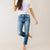 Crazy Little Thing Kancan High Rise Button Straight Denim