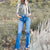 In the Spotlight Kancan Denim Flares in Medium Wash