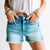 Shannon Mid Rise Side Split Denim Short
