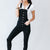 Kendall Black Wash Kancan Button Overall
