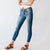 Shake It Off Kancan Distressed Split Ankle Skinny