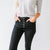 Superstar Kancan High Rise Button Skinny in Black