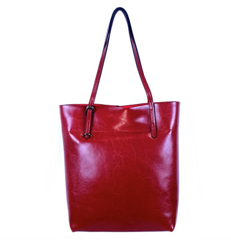 Tall Tote Bag in Wine Red