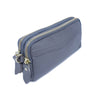 Simple Design Leather Clutch Purse Grey