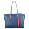 Large Shoulder Ladies Leather Handbag Blue
