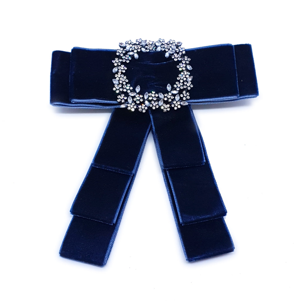 Bow Brooch Blue