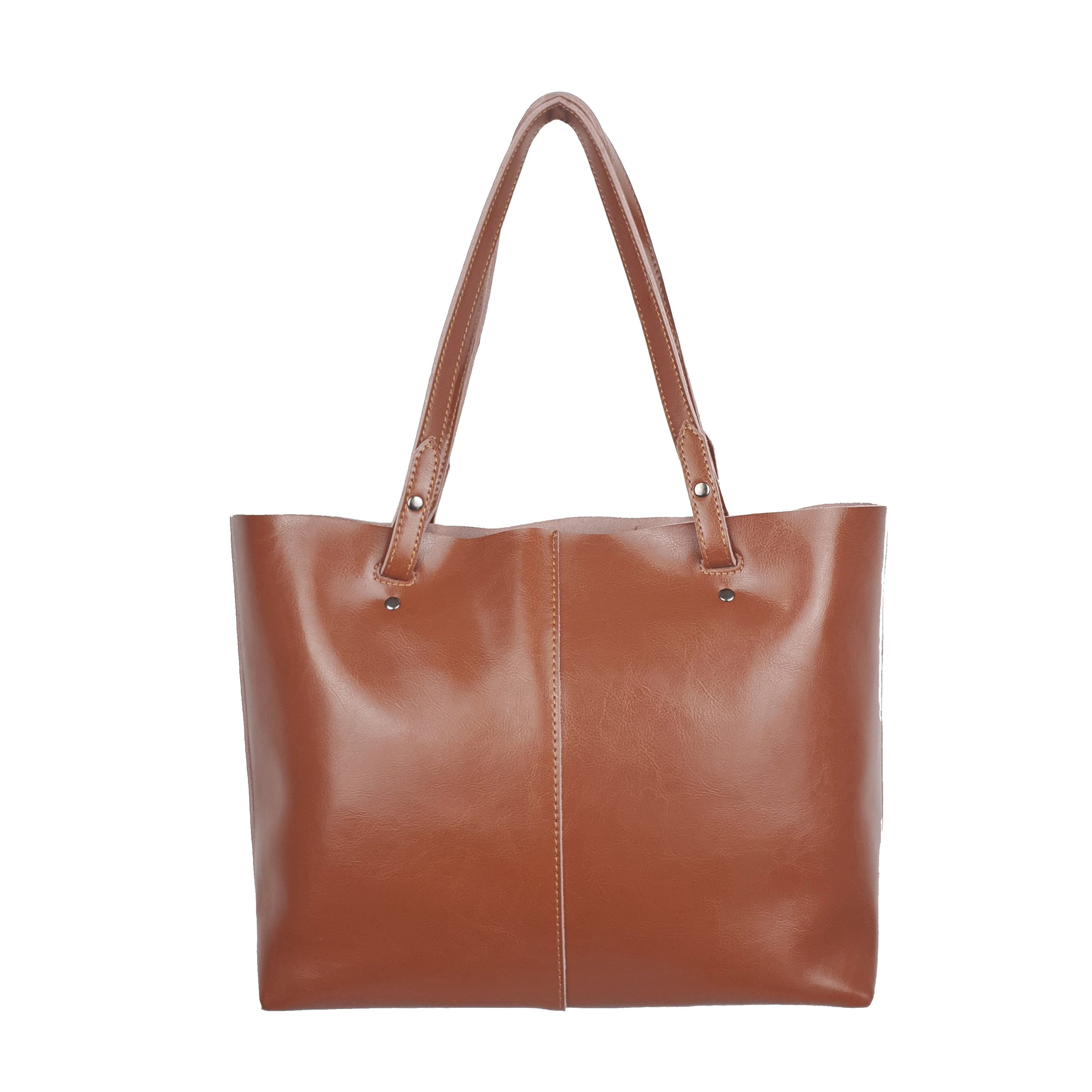 6ab81ad17b4 Brown Tote Chic Leather Women Bag