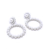 Pearls Circle Earrings Silver