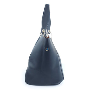 Simple Classic Design Ladies PU Handbag Black