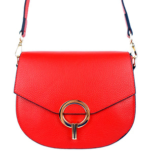 Leather Red Sling Crossbody Bag