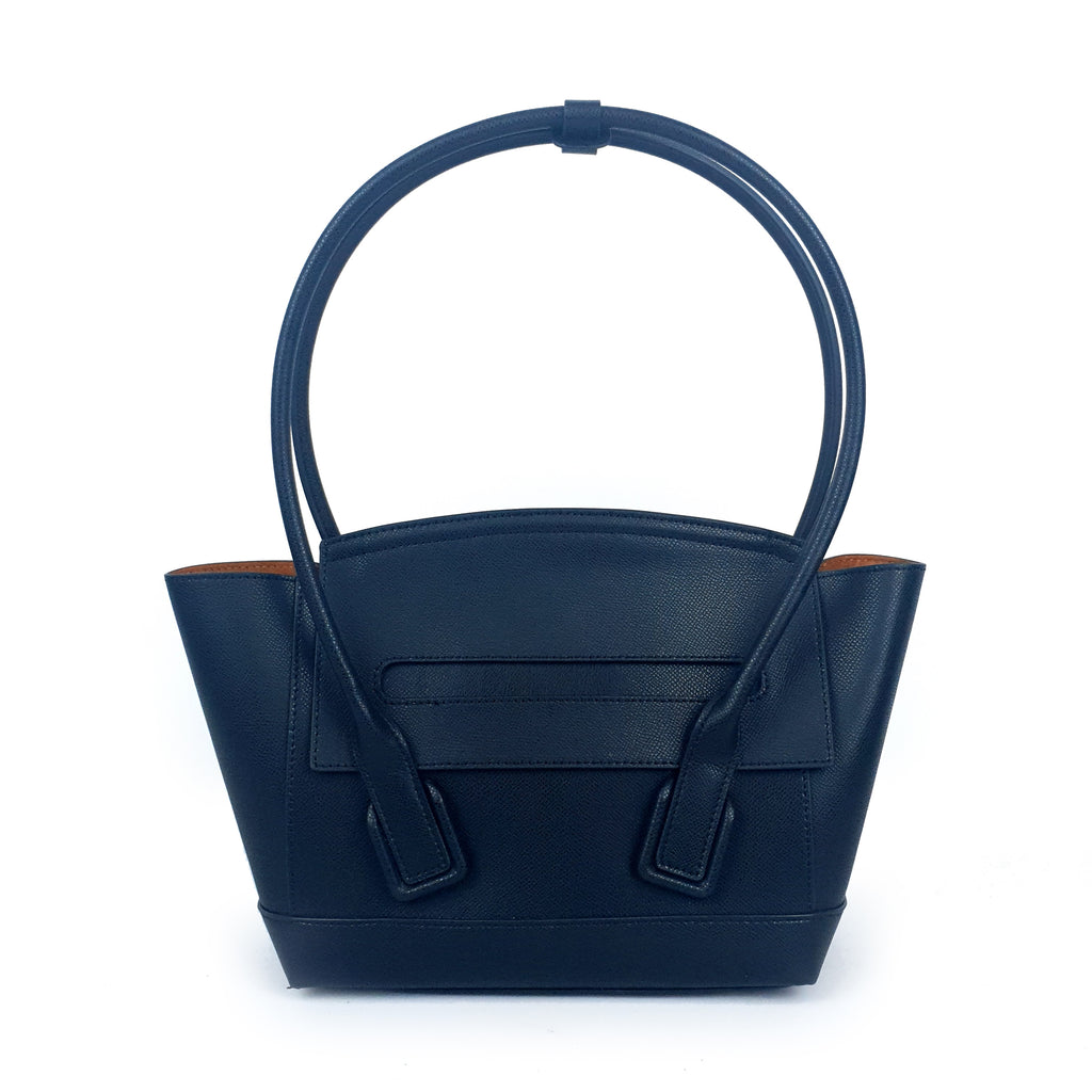 Top Handle Black Leather Bag