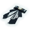 Black Ribbon Gorgeous Ladies Brooch